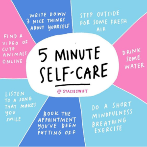 5 minute self-care
