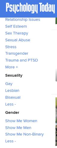 LGBTQ therapist on Psychology today